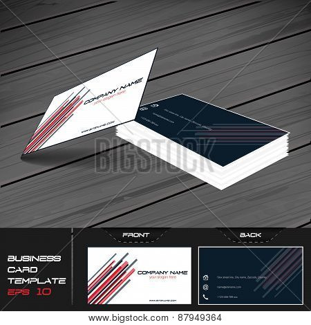 Business card or visiting card template