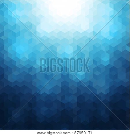 Abstract mosaic geometric blue background