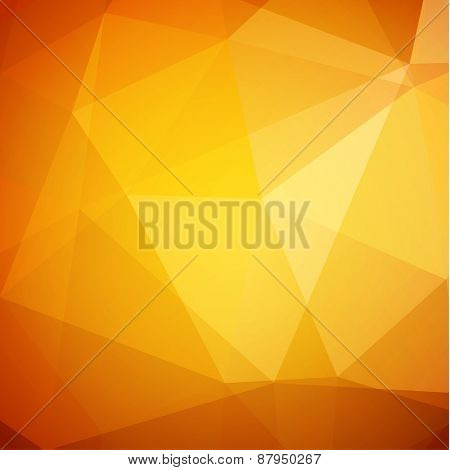 Abstract yellow geometric background - eps10 vector