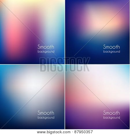 Colorful triangular backgrounds set