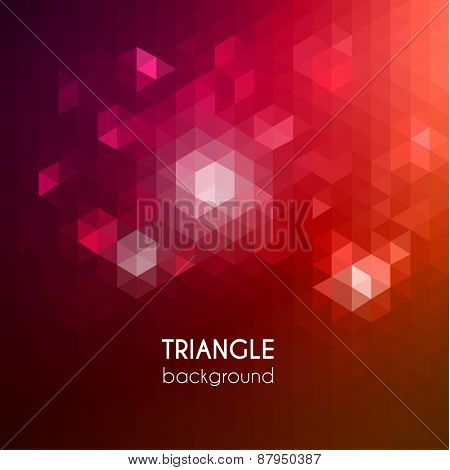 Abstract vibrant triangular background - eps10