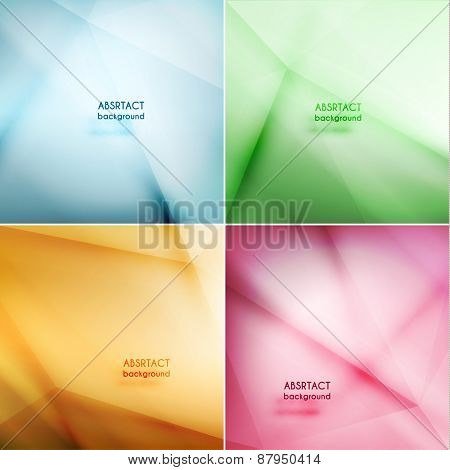 Set of smooth abstract geometric backgrounds - eps10 vector