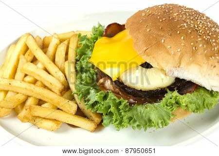 Hawaiian Burger And Chips