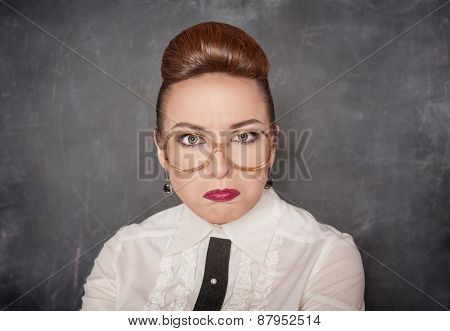 Angry Teacher With Eyeglasses