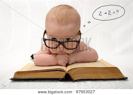 Baby In Glasses Counting In Mind