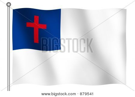 Christian Flag Waving