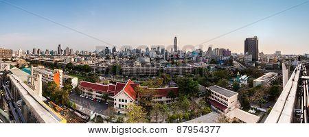 Panaroma Of Cityscape,bangkok Thailand