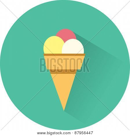 Ice Cream. Vector flat Illustration.
