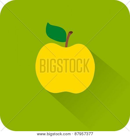 Flat color icons apple.