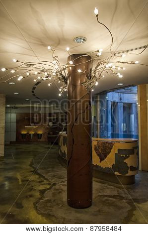 Chieti, Italy - April 06: View Of Modern Lamp In A Room April 06, 2015 In Chieti, Italy