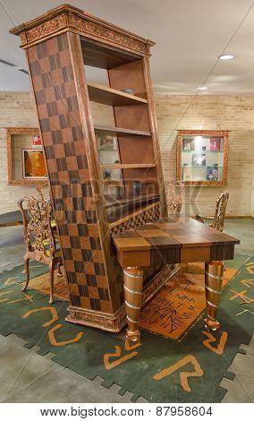 Chieti, Italy - April 06: Alice In Wonderland Design Furniture April 06, 2015 In Chieti, Italy
