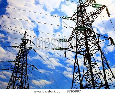 Two Electricity Pylons