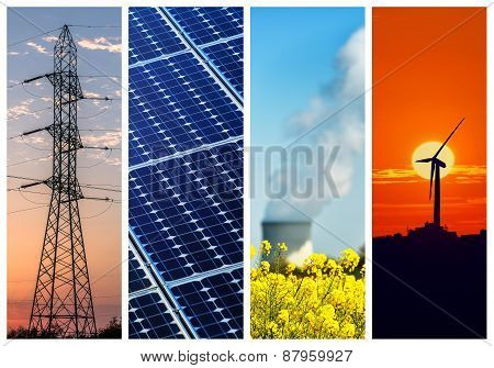 Collage ofPower and energy concepts