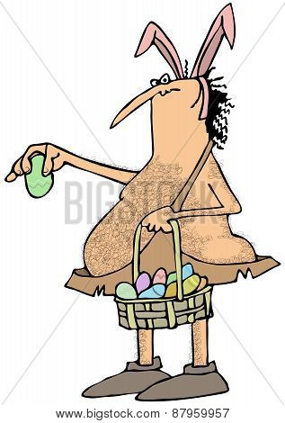 Caveman Easter bunny
