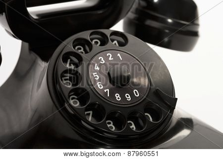 Vintage telephone close up