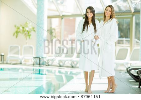 Young Women By The Pool