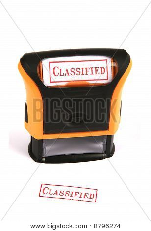 Rubber Stamp - Classified