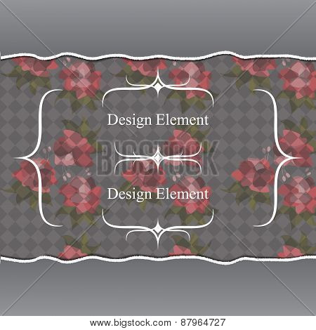 Card or invitation with abstract floral background