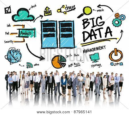 Diversity Business People Big Data Corporate Management Concept