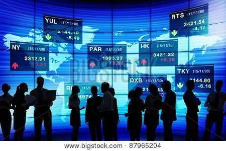Business People Stock Exchange Market Trading Concept