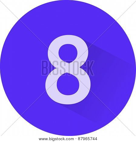 Number 8 on white background. Vector illustration
