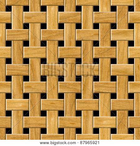Seamless wooden lattice pattern background.