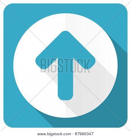 up arrow blue flat icon arrow sign
