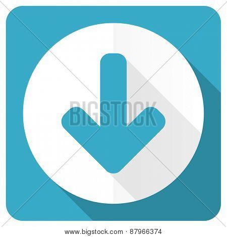 download arrow blue flat icon arrow sign
