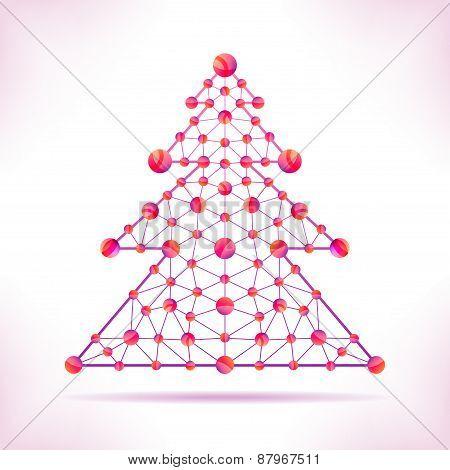 Red Molecule Christmas Tree.