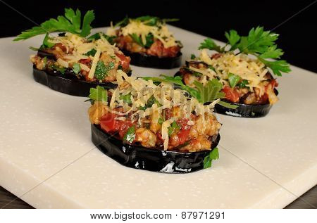 Appetizer Of Fried Eggplant
