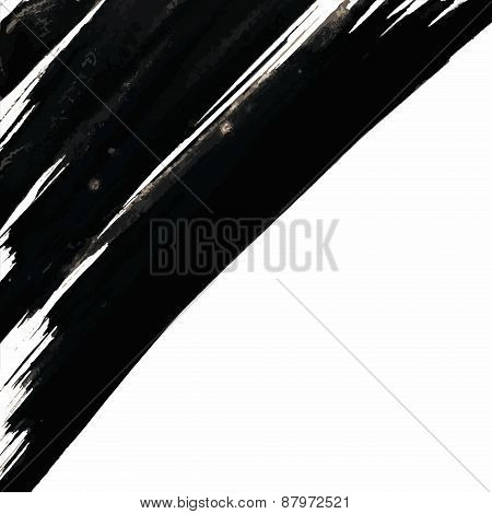Corner Brush Strokes Background