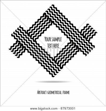 Abstract geometrical frame