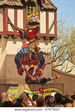 An Acrobat Troupe At The Arizona Renaissance Festival