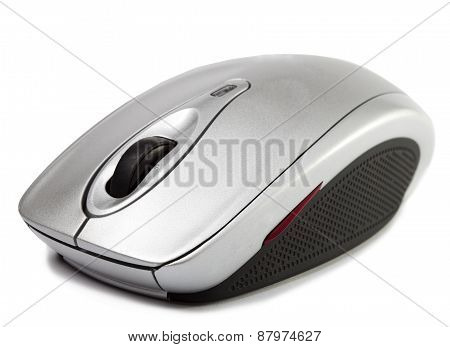 computer mouse on a white background . Close up