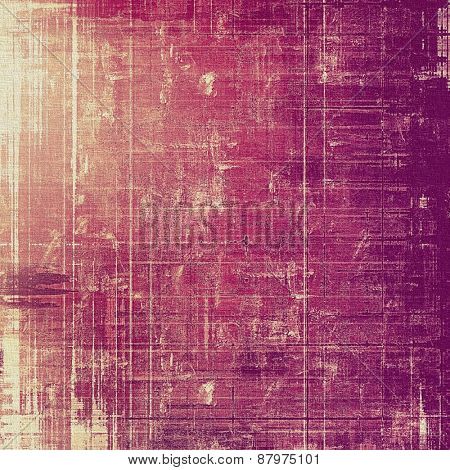 Grunge colorful background or old texture for creative design work. With different color patterns: purple (violet); yellow (beige); pink