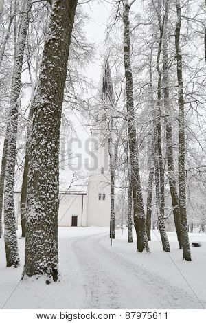 Winter Landscape In Sigulda.
