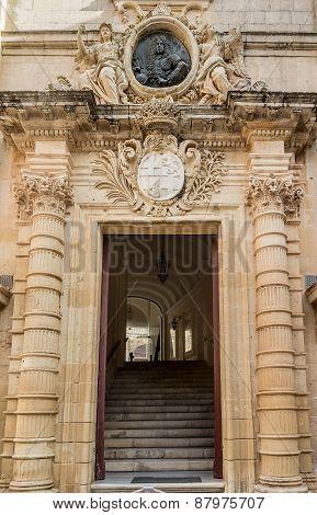 Auberge de Castille entrence. Valletta, Malta.