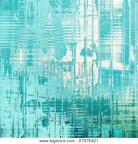 Designed grunge texture or retro background. With different color patterns: blue; cyan