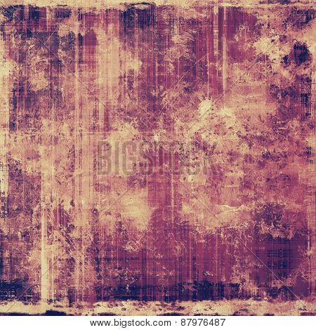 Retro background with grunge texture. With different color patterns: purple (violet); yellow (beige); pink