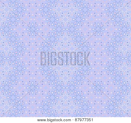 Seamless Pattern On A Cool Winter Colours