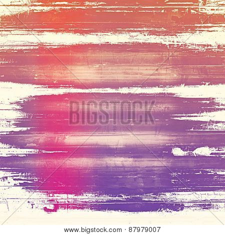 Computer designed highly detailed vintage texture or background. With different color patterns: purple (violet); red (orange); pink