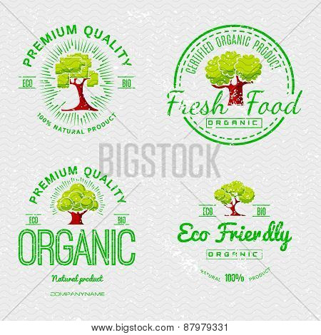 Set Organic Natural Ecology Stickers