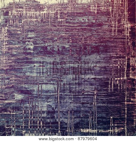 Antique vintage texture or background. With different color patterns: purple (violet); blue; gray