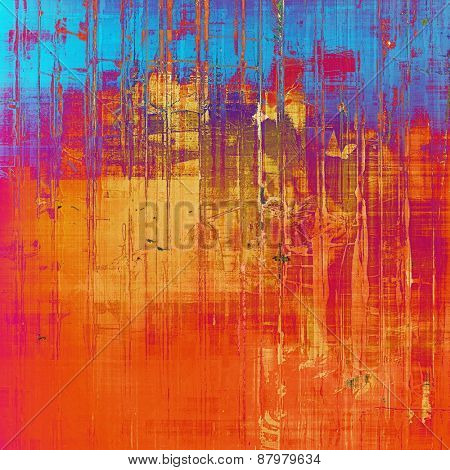 Old abstract grunge background for creative designed textures. With different color patterns: purple (violet); blue; red (orange); pink
