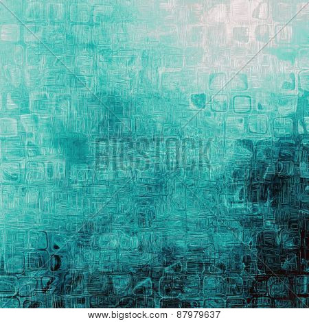 Vintage spotted textured background. With different color patterns: blue; cyan; gray
