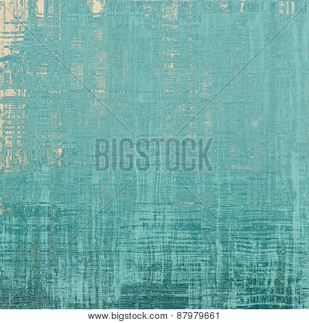 Grunge texture with decorative elements and different color patterns: blue; cyan; gray