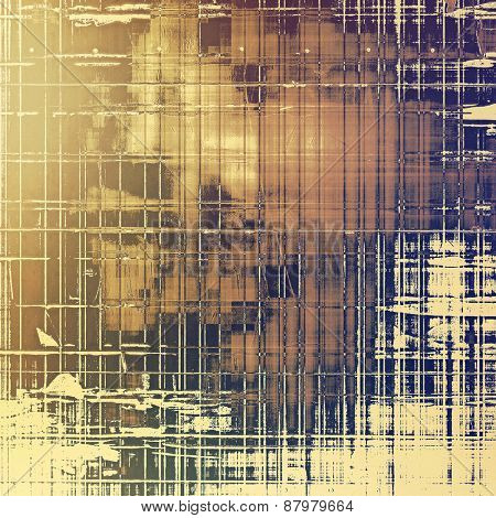 Designed grunge texture or retro background. With different color patterns: purple (violet); yellow (beige); brown; gray