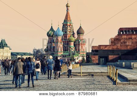 People At Red Square In Moscow