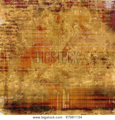 Rough grunge texture. With different color patterns: yellow (beige); red (orange); brown