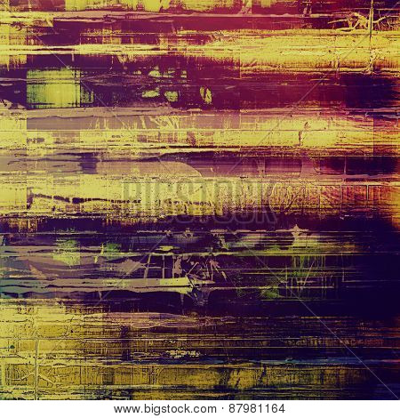 Beautiful antique vintage background. With different color patterns: purple (violet); blue; yellow (beige); pink